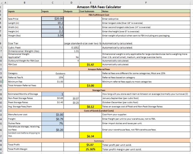 EcomCrew spreadsheet