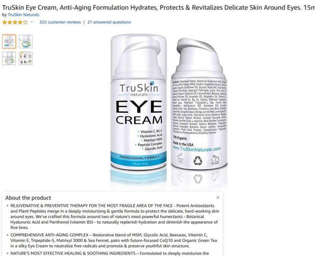 TruSkin eye cream