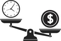 Scales time vs money