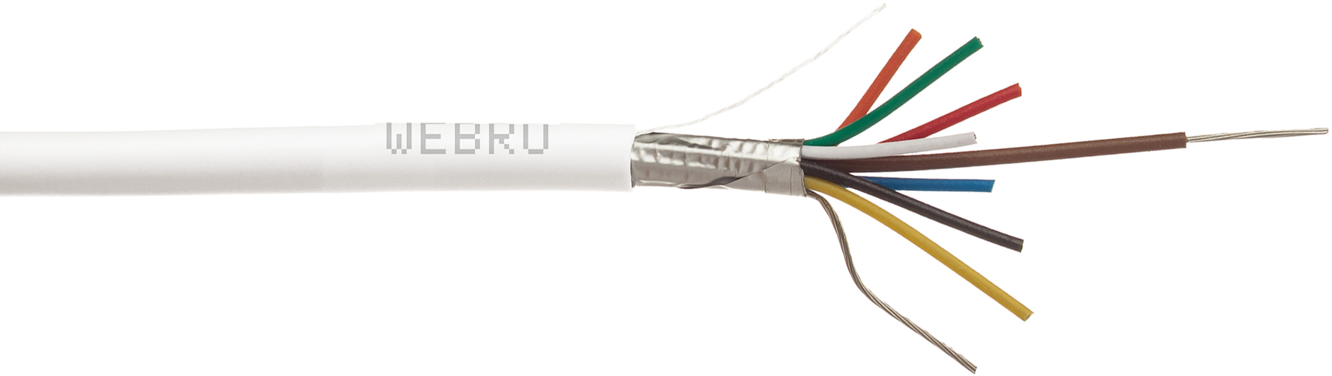 hight resolution of screened alarm cable
