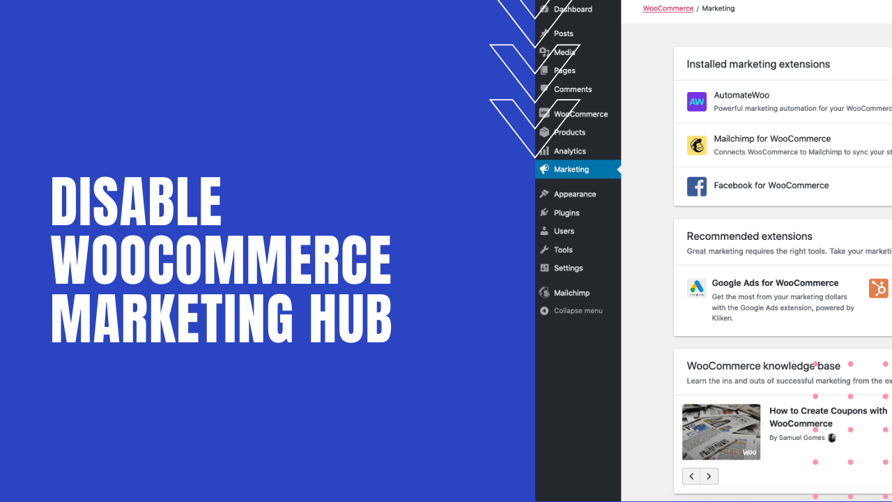 disable woocommerce marketing hub