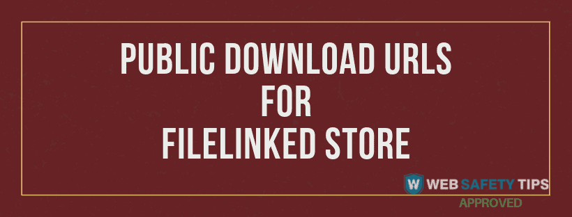 use public download urls