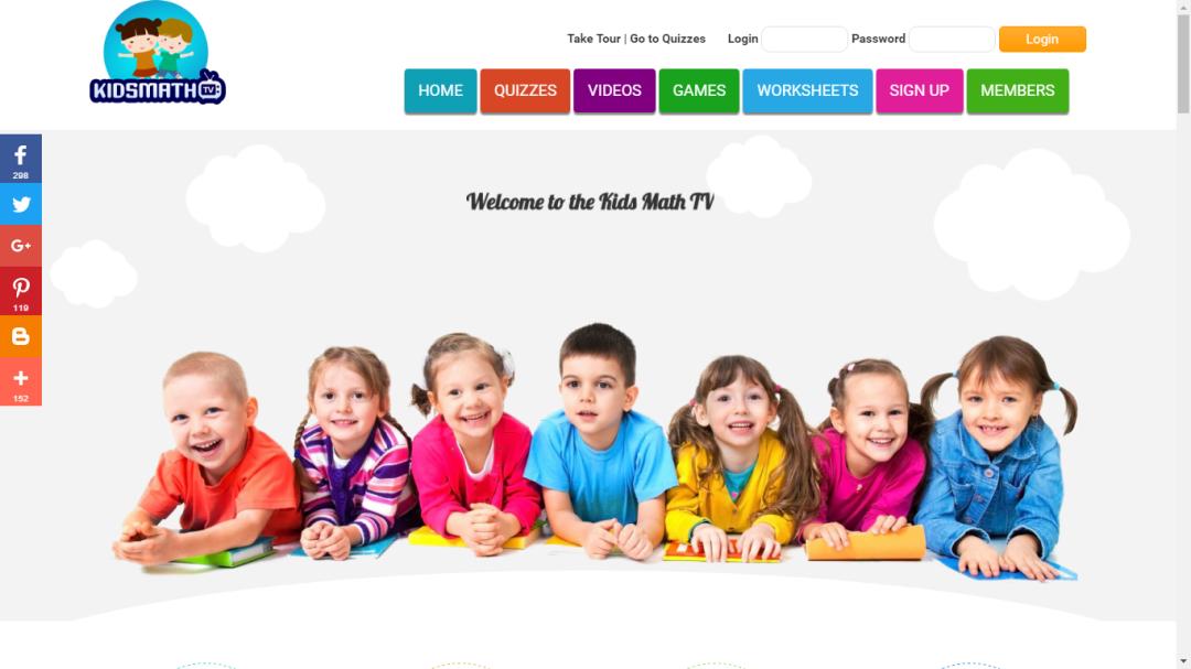 Kids Math TV Website
