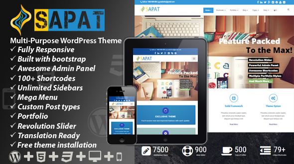 Sapat Multipurpose WordPress Theme