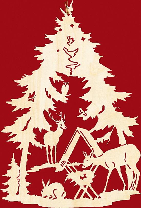 Fensterbild Weihnachten Wildftterung