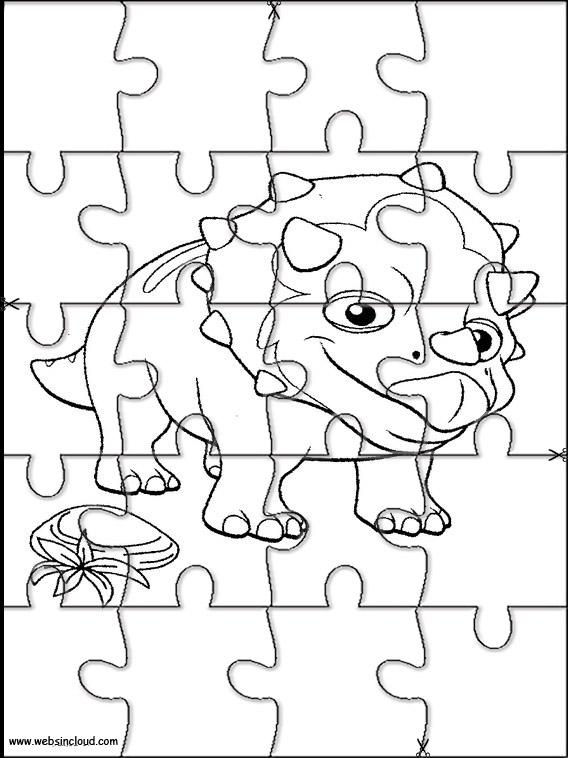 Puzzle Da Stampare Colorare E Ritagliare Il Treno Dei