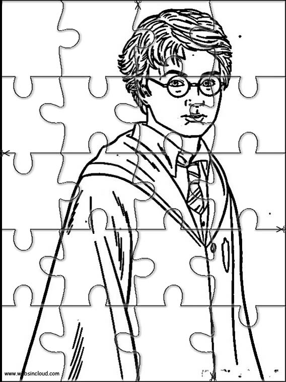 Harry Potter Jigsaw to cut out 28