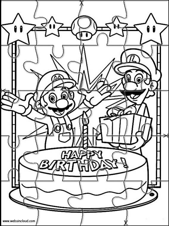 Mario Bros Printable Puzzle 15