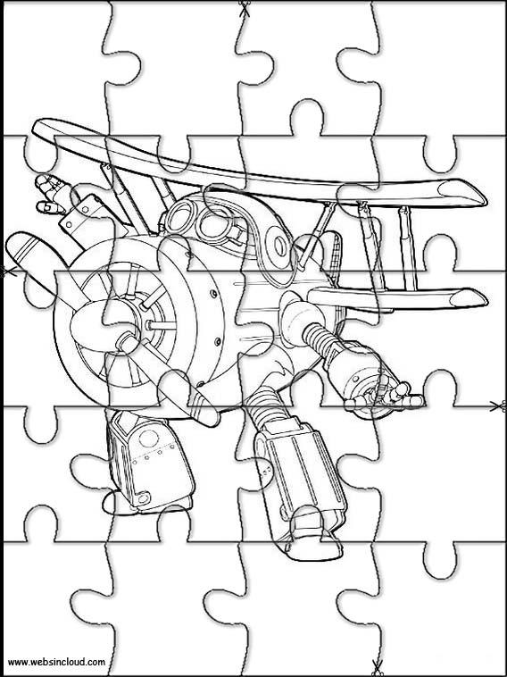 Puzzle Da Stampare Colorare Super Wings 5
