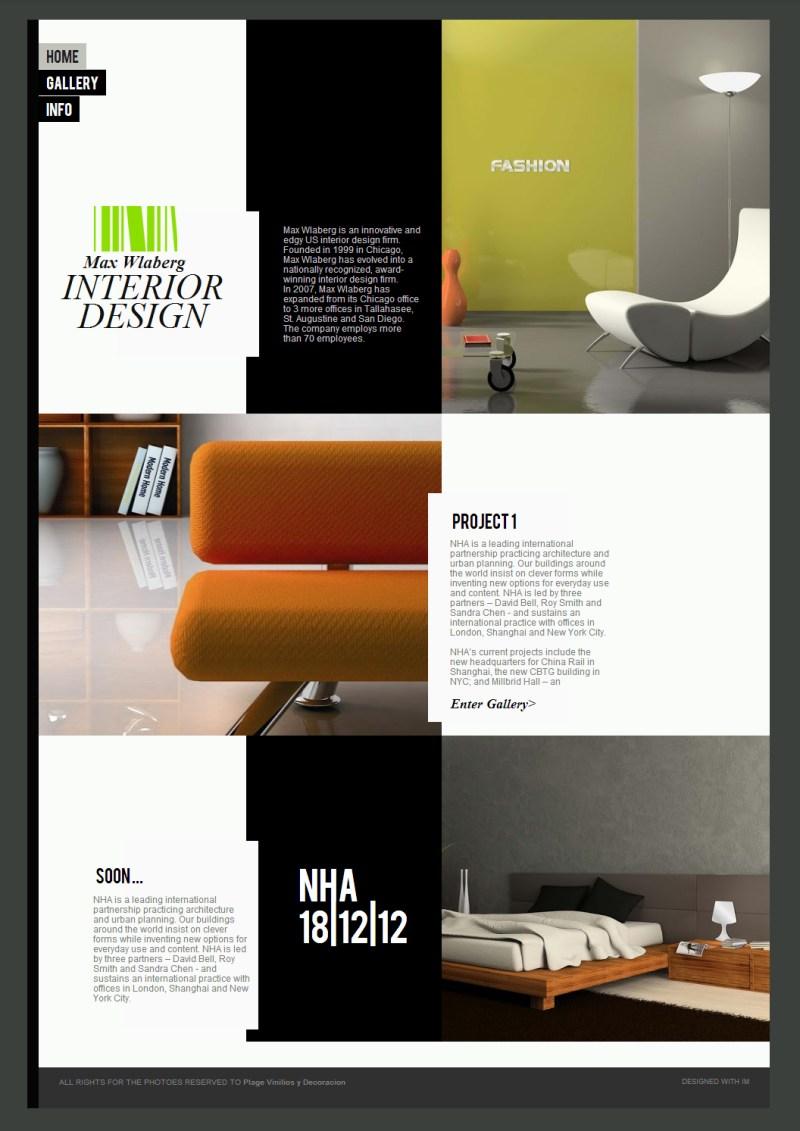 Interior design portfolio layout templates for Interior design sites free