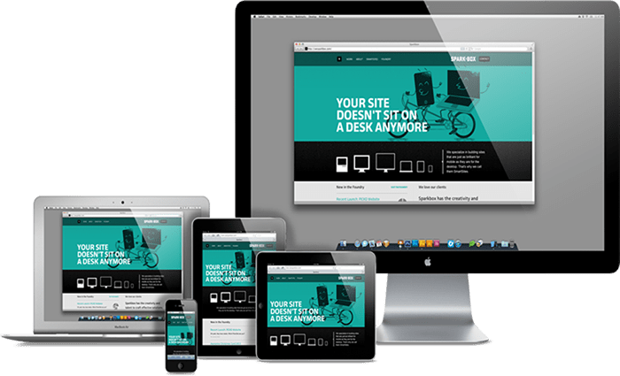 Mobile responsive website design image