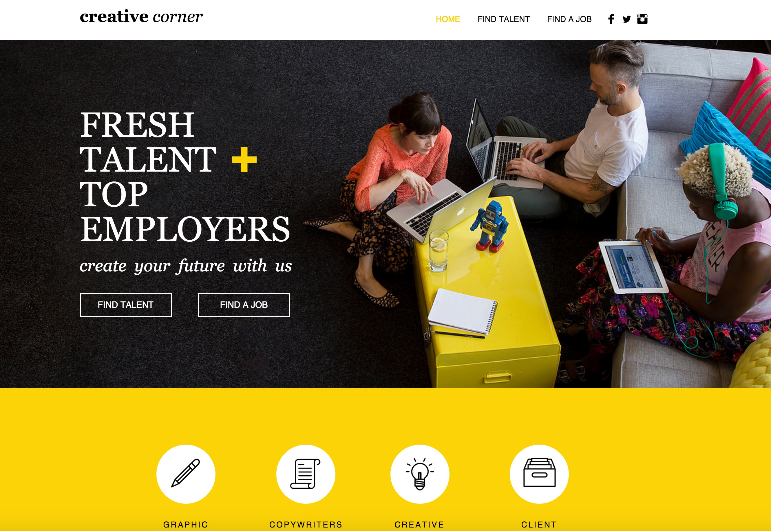 The Creative Staffing Agency Wix Layout