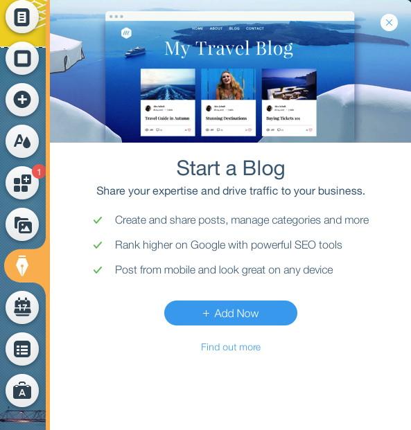 Wix Editor Add Blog