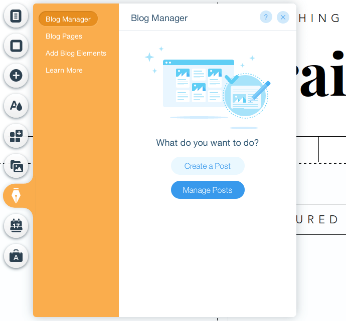 Wix Editor Blog Manager