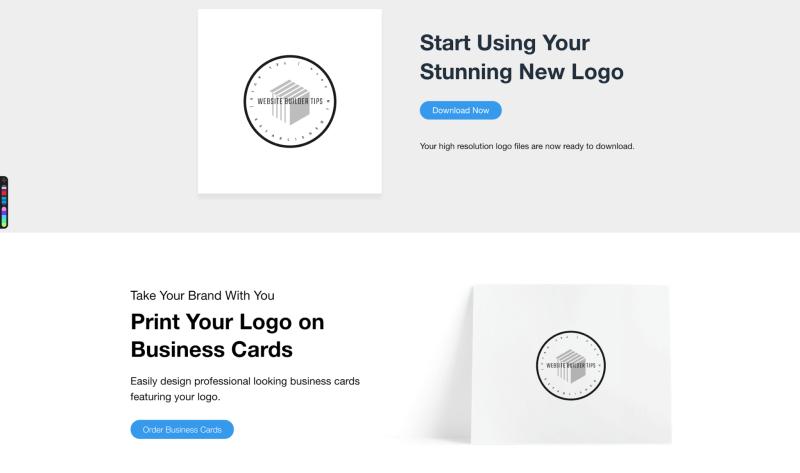 start using wix logo maker