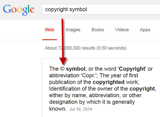 Example Copyright Symbol