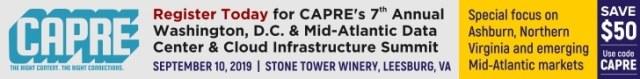 CAPRE's Data Center Round Up for September 6, 2019 2