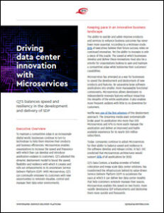 Microservices Deliver Speed and Flexibility to Data Center Customers 2