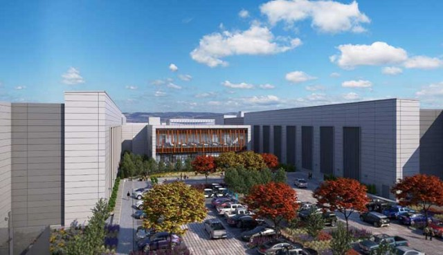 An illustration of the new buildings planned for the Facebook campus in Prineville, Oregon. (Image: Facebook)