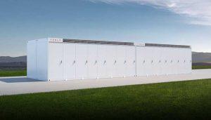 An illustration of the Tesla Megapack, which provides 3 megawatts of energy storage capacity. (Image: Tesla)