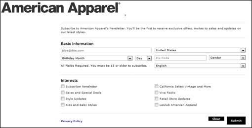 email sign up form - Cypru.hamsaa.co