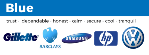 examples of blue logos samsung barclays hp