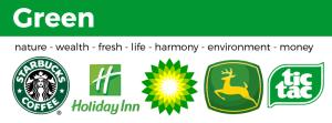 examples of green logos BP holiday Inn land rover