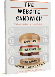 Book on how your Web Design is the Center of your Online Marketing using a sandwich as a metaphor