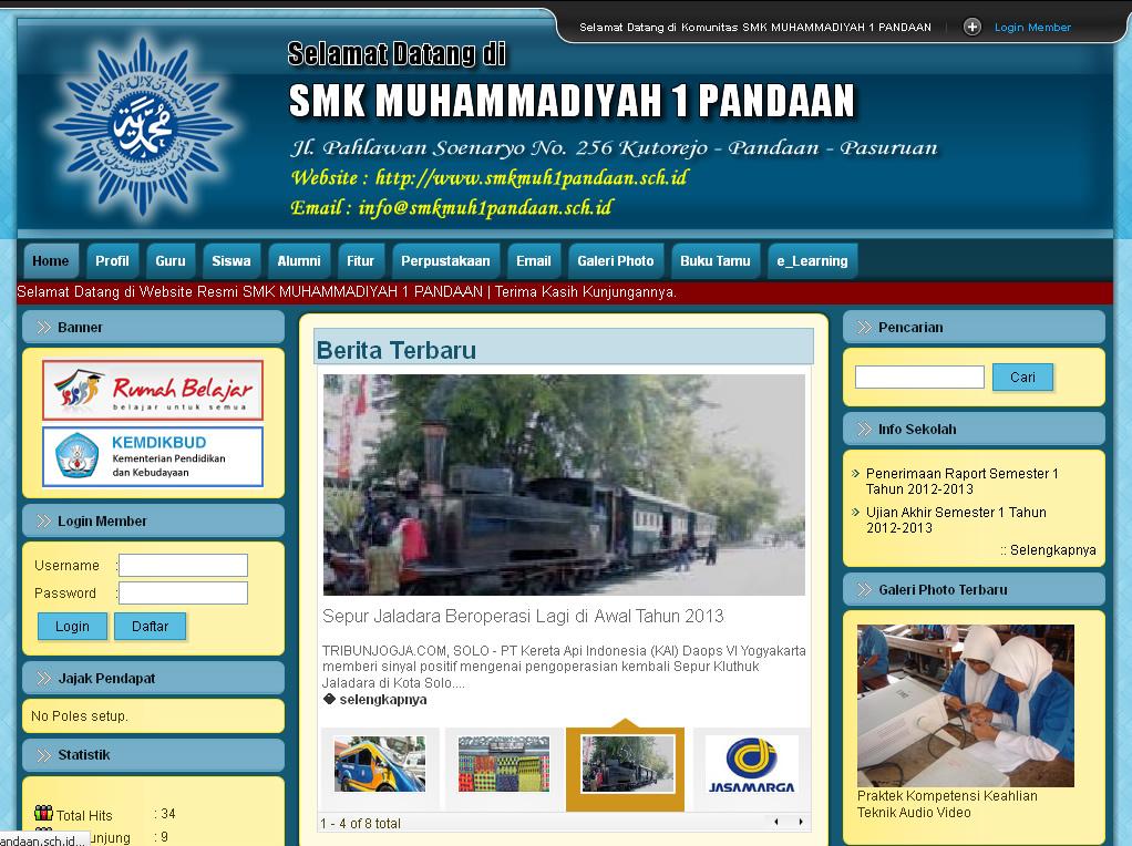Contoh website sma contoh website smk contoh website An website