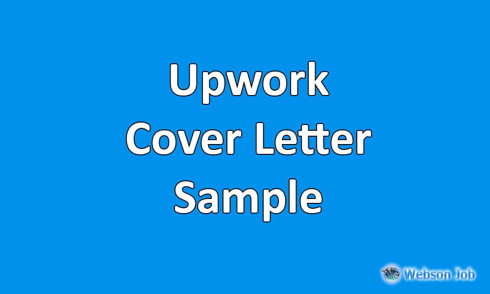 upwork cover letter samples