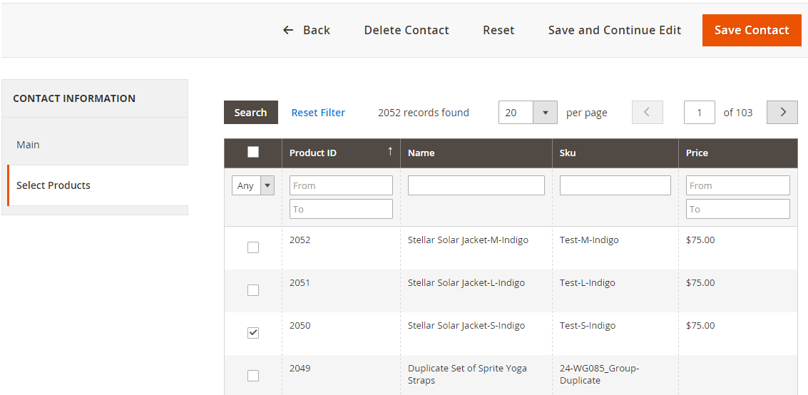 Magento 2: Add Products Grid to Custom Admin Module
