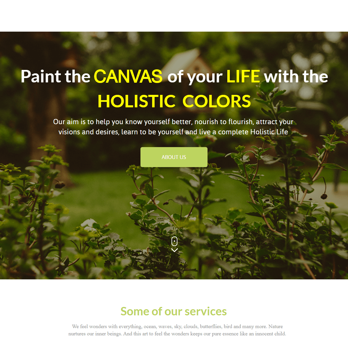 Paint the CANVAS of your LIFE with the HOLISTIC  COLORS Our aim is to help you know yourself better, nourish to  flourish, attract your visions and desires, learn to be  yourself and live a complete Holistic Life