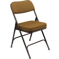 National Public Seating 3219 Brown Metal Folding Chair ...