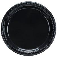 """Creative Converting 28134011B 7"""" Black Velvet Plastic ..."""
