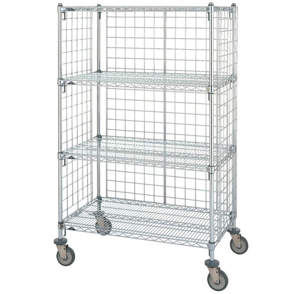 Metro Super Erecta AST55DC Chrome Wire Slanted Shelf Cart