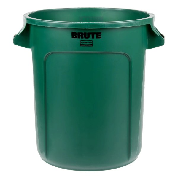 Rubbermaid Fg261000dgrn Brute Green 10 Gallon Trash