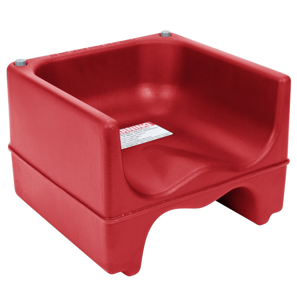 Cambro 200BC158 Plastic Booster Seat  Dual Seat  Hot Red