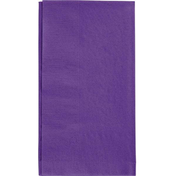 "Purple Paper Dinner Napkin Choice 2-ply 15"" X 17"" - 125 Pack"