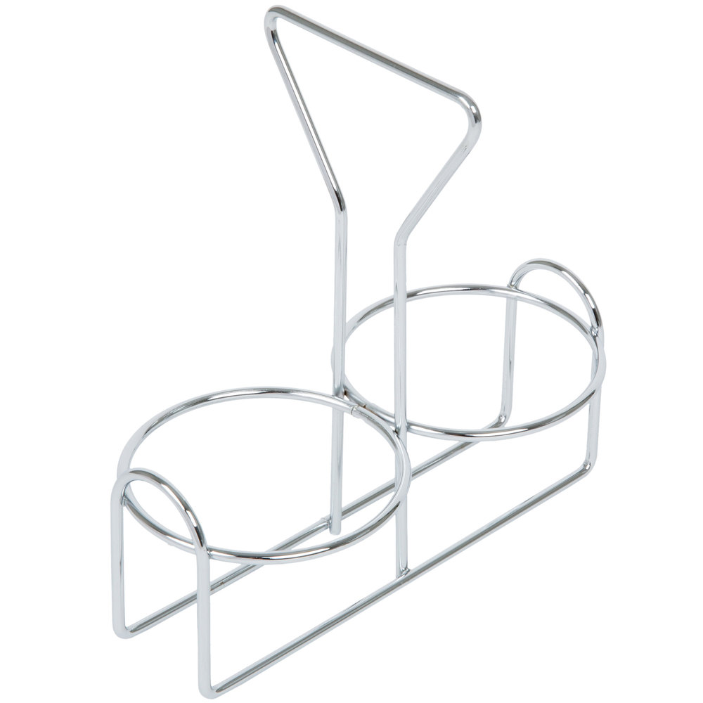 2 Hole Wire Condiment Holder