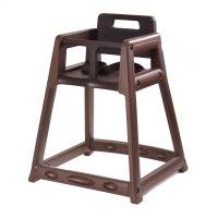 CSL 850-BRN Brown Stackable Plastic High Chair - Assembled