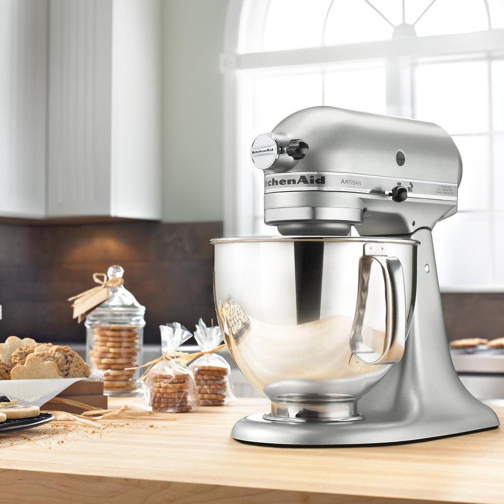 commercial kitchen aid mixer sink without cabinet kitchenaid ksm150pscu contour silver artisan series 5 qt ...