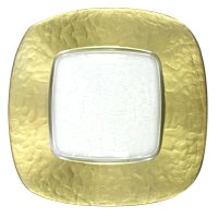 "The Jay Companies 13"" x 13"" Square Gold Glass Charger ..."