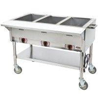 120V APW Wyott PSST3S Portable Steam Table - Three Pan ...