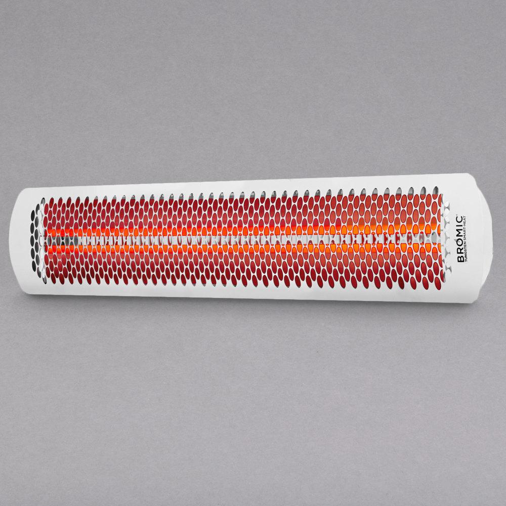 bromic heating bh0420013 white tungsten smart heat electric outdoor patio heater 220 240v 6000w