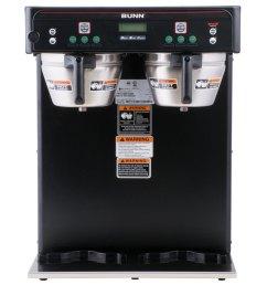 bunn 37600 0004 brewwise icb twin dual infusion series black coffee brewer 120 240v [ 1000 x 1000 Pixel ]