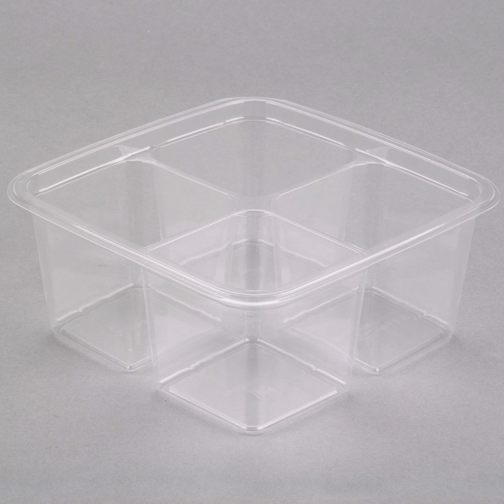 Fabri Kal Greenware GS6 4 4 Compartment Clear PLA Plastic