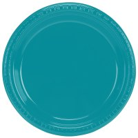 "Creative Converting 28111021 9"" Tropical Teal Plastic"