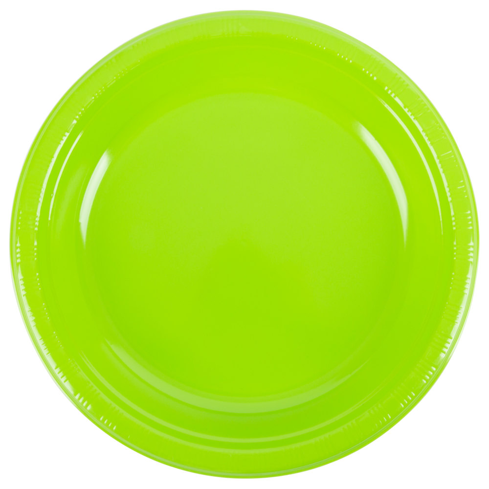 "Creative Converting 28312331 10"" Fresh Lime Green Plastic"