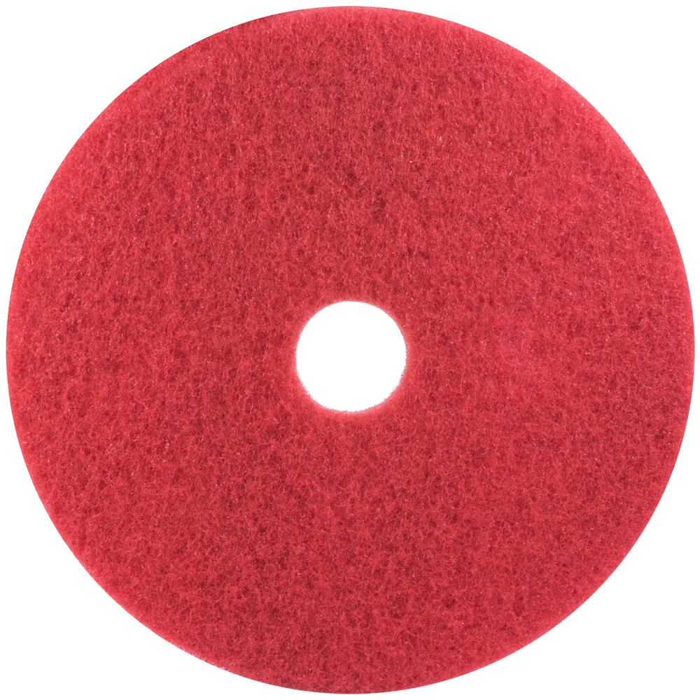 3M 5100 10 Red Buffing Floor Pad  5Case