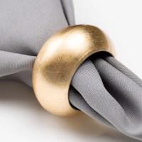 """Gold 2 3/8"""" Round Acrylic Napkin Ring"""